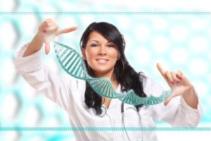 Генетика позволяет выявить, изучить и вылечить наследственные болезни.